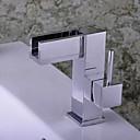billige Baderomskraner-Baderom Sink Tappekran - Foss Krom Centersat Enkelt Håndtak Et HullBath Taps