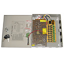 billige NVR-sett-Strømforsyning 9-Channel 12V DC 10A Regulated til Sikkerhet Systemer 23.5*20.5*5cm 1.2kg