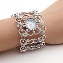ราคาถูก วิกผมตุ๊กตา-สำหรับผู้หญิง นาฬิกาหรู นาฬิกาข้อมือ นาฬิกาเพชร ญี่ปุ่น นาฬิกาอิเล็กทรอนิกส์ (Quartz) เงิน นาฬิกาใส่ลำลอง ระบบอนาล็อก สุภาพสตรี วิบวับ กำไล แฟชั่น - สีเงิน หนึ่งปี อายุการใช้งานแบตเตอรี่