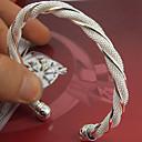 billiga Moderingar-Dam Manschett Armband damer Manschett Sterlingsilver Armband Smycken Silver Till Bröllop Party Speciellt Tillfälle Årsdag Födelsedag Förlovning / Gåva