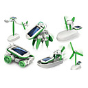 cheap Magnetic Building Blocks-6 In 1 Robot Toy Car Solar Powered Toy Solar Powered Plastic ABS Boys' Girls' Toy Gift