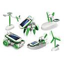 billiga Soldrivna leksaker-6 In 1 Robotar Leksaksbilar Soldrivna leksaker Soldriven Plast ABS Pojkar Flickor Leksaker Present