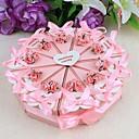 povoljno Kutijice za svadbene poklone-Krug Kvadrat Pyramid Kartica papira Naklonost Holder s Uzde Printing Cvijet Milost Kutije