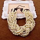 Χαμηλού Κόστους Κολιέ-Γυναικεία Coliere cu Perle Αχλάδι Απομίμηση Μαργαριταριού Κρύσταλλο 35-45 cm Κολιέ Κοσμήματα 1pc Για Πάρτι Επέτειος Δώρο