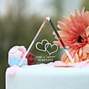 billige Kakedekorasjoner-Kakepynt Hage Tema Hjerter Klassisk Par Krystall Bryllup jubileum Utdrikningslag med Gaveeske