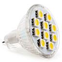 ราคาถูก ไฟ Bi-pin LED-1.5 W LED สปอตไลท์ 2800 lm GU4(MR11) MR11 10 ลูกปัด LED SMD 5050 ขาวนวล 12 V