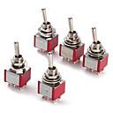 billiga Läsleksaker-6p växelströmbrytare för elektronik diy ac 250v 2a 120v 5a spdt på / av / på (5 stycken ett paket)