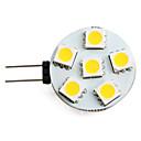 ราคาถูก ชุดเซ็กซี่-1 W LED สปอตไลท์ 150 lm G4 6 ลูกปัด LED SMD 5050 ขาวนวล 12 V / #
