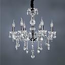 billiga Ljuskronor-qingming® europeiska kristallkronkrona vardagsrum, sovrum, studio, restaurang, bar, transparent glas armbågljus kristallampa