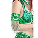 baratos Acessórios de Dança-Acessórios de Dança Jóias Mulheres Espetáculo Poliéster Miçangas / Lantejoulas