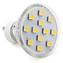baratos Lâmpadas LED de Foco-1pç 2 W Lâmpadas de Foco de LED 80-100 lm GU10 12 Contas LED SMD 5050 Branco Quente Branco Frio Branco Natural 220-240 V