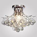 billiga Hängande belysning-Lightinthebox Utomhus Glödande Krom Metall Kristall, Ministil 110-120V / 220-240V / E12 / E14