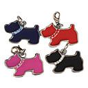 billige Askebegre-heldig hund stil hund id navneskilt (assorterte farger)