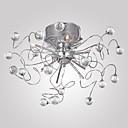 billiga Speglar Väggklockor-Ljuskronor / Utomhus Glödande Krom Elektropläterad Metall Kristall 110V / 110-120V / 220-240V