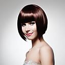 Χαμηλού Κόστους Συνθετικές περούκες χωρίς σκουφί-Συνθετικές Περούκες Ίσιο Ίσια Περούκα Μπορντώ Συνθετικά μαλλιά 12 inch Γυναικεία Κόκκινο
