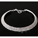 povoljno Choker ogrlice-Sintetički dijamant slojeviti Ogrlice Zvjezdana prašina Statement dame Ležerne prilike Birthstones Dijamant Legura Pink zaslon u boji Ogrlice Jewelry Za
