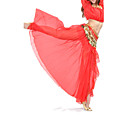 ราคาถูก ชุดเต้นระบำหน้าท้อง-ชุดเต้นระบำหน้าท้อง กระโปรง สำหรับผู้หญิง การฝึกอบรม / Performance ชิฟฟอน ผ่าหน้า ปรับตัวลดลง กระโปรง