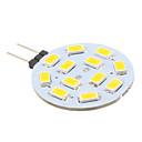 billige Bi-pin lamper med LED-2 W LED-lamper med G-sokkel 240 lm G4 12 LED perler SMD 5630 Varm hvit 12 V / # / CE