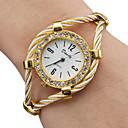 ราคาถูก เข็มกลัด-สำหรับผู้หญิง สุภาพสตรี นาฬิกาแฟชั่น นาฬิกาสร้อยข้อมือ นาฬิกาเพชร นาฬิกาอิเล็กทรอนิกส์ (Quartz) ทอง ระบบอนาล็อก วิบวับ กำไล - สีทอง หนึ่งปี อายุการใช้งานแบตเตอรี่ / SSUO 377