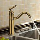 ราคาถูก ก๊อกน้ำห้องครัว-ก๊อกน้ำสำหรับห้องครัว - One Hole ทองเหลือง บาร์ / เตรียม ติดโต๊ะ ของโบราณ Kitchen Taps / จับเดี่ยวหนึ่งหลุม