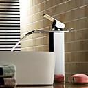 billiga Fristående tvättställ-Badrum Tvättställ Kran - Vattenfall Krom Kärl Ett hål / Singel Handtag Ett hålBath Taps