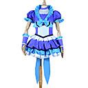 billiga Cykeltröjor-Inspirerad av PrettyCure Cure Beat Animé Cosplay-kostymer Japanska cosplay Suits / Klänningar Lappverk Kortärmad Topp / Kjol / Huvudbonad Till Dam