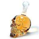 baratos Lixas e Polidores de Unha-decanter cristal da garrafa de vidro de vinho da vodca do crânio 350ml