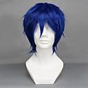 ราคาถูก วิกผมวิดีโอเกมคอสเพลย์-Vocaloid Kaito วิกส์คอร์สเพลย์ สำหรับผู้ชาย 12 inch ไฟเบอร์ทนความร้อน การ์ตูนอานิเมะ