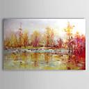 povoljno Apstraktno slikarstvo-Hang oslikana uljanim bojama Ručno oslikana - Pejzaž Comtemporary Uključi Unutarnji okvir / Prošireni platno