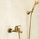ราคาถูก ก๊อกอ่างล้างหน้าในห้องน้ำ-ก๊อกน้ำฝักบัว - ของโบราณ ทองเหลือง อ่างและฝักบัว Brass Valve Bath Shower Mixer Taps / จับเดี่ยวสองหลุม