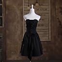 billige Lolitasko-Prinsesse Gothic Lolita Kjoler Dame Jente Bomull Japansk Cosplay-kostymer Ensfarget Ermeløs Kort Lengde / Gotisk Lolita