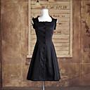 Χαμηλού Κόστους Φορέματα Λολίτα-Classic Lolita Lolita Φορέματα Γυναικεία Κοριτσίστικα Βαμβάκι Ιαπωνικά Κοστούμια Cosplay Μονόχρωμο Αμάνικο Μεσαίου Μήκους