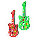 ราคาถูก เครื่องดนตรีของเล่น-กีต้าร์ไฟฟ้าขนาดเล็กดนตรีกับ 12 เพลง (powered by 2AA สีสุ่ม)