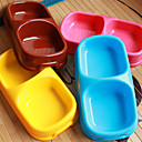 billiga Hundskålar ochutfodrare-Katt Hund Skålar & Vattenflaskor Plast Vattentät Bärbar Brun Blå Rosa Skålar och matning
