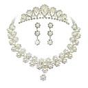 Χαμηλού Κόστους Διακοσμητικά Γάμου-Γυναικεία Σετ Κοσμημάτων Σκουλαρίκια Κοσμήματα Λευκό Περλέ Για Γάμου Πάρτι Ειδική Περίσταση Επέτειος Γενέθλια Αρραβώνας / Κολιέ