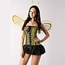 Χαμηλού Κόστους Αυτοκόλλητα Τοίχου-Cute Little Bee κίτρινο και μαύρο κοστούμι Stripes Polyester Γυναικών (2 τεμάχια)