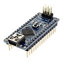 ราคาถูก มาเธอร์บอร์ด-Nano V3.0 AVR ATmega328 P-20AU บอร์ดโมดูล & สายเคเบิ้ล USB Arduino น้ำเงิน + ดำ