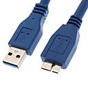 ราคาถูก สายเคเบิล-yongwei 0.3m 1ft usb 3.0 ตัวผู้เพื่อ micro usb 3.0 สายเคเบิลสีน้ำเงิน 0.3m