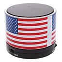 Χαμηλού Κόστους Ηχεία-S10 Οι ΗΠΑ Σημαία Mini Bluetooth ομιλητής με TF Port για PC τηλέφωνο / Laptop / Tablet