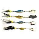 ราคาถูก เหยื่อตกปลา-1 pcs เหยื่อปลอม ที่ลวงตาในเบ็ด ที่ลวงตาแบบหมุน Spinner baits ขนนก Bass ปลาเทราท์ หอก เหล็กกล้าไร้สนิม