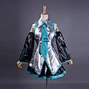Χαμηλού Κόστους Animale de Pluș-Εμπνευσμένη από Vocaloid Hatsune Miku Βίντεο Παιχνίδι Στολές Ηρώων Κοστούμια Cosplay / Φορέματα Patchwork Αμάνικο Πουκάμισο Φούστα Μανίκια Κοστούμια