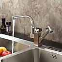 billiga Kragar, selar och koppel-Kökskran - Ett hål Nickel Polerad standard Pip Horisontell montering Nutida Kitchen Taps / Singel Handtag Ett hål