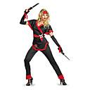 baratos Ralos-Ninja Fantasias de Cosplay Mulheres Dia Das Bruxas Carnaval Ano Novo Festival / Celebração Cetim Mulheres Trajes de Carnaval / Peça para Cabeça