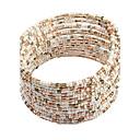 ราคาถูก สร้อยข้อมือ-ถูก Persona Beads Collection โบฮีเมียน เปิด เรซิน สร้อยข้อมือเครื่องประดับ ขาว / ฟ้า / สายรุ้ง สำหรับ ปาร์ตี้ โอกาสพิเศษ วันเกิด ของขวัญ ทุกวัน ที่มา