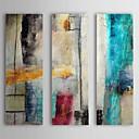 povoljno Slike za cvjetnim/biljnim motivima-ručno oslikana ulje na platnu apstraktni impuls s ispruženim okvirom tri panela