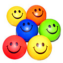 billige avstressere-Happy Face Mønstret stressavlastning Rubber Balls (tilfeldig farge)