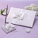 Χαμηλού Κόστους Λουλούδια Γάμου-Βιβλίο Καλεσμένων / Σετ Στυλό Σατέν Θέμα Κήπος Με Ψεύτικο Μαργαριτάρι / Κορδέλες