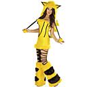 baratos Adornos-Cunning Fox amarelo da Mulher Vestuário macios brilhantes Halloween Costume