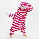 billiga Campingkök-Vuxna Kigurumi-pyjamas Chesire Cat Djurmönstrad Onesie-pyjamas Korallfleece Röd Cosplay För Herr och Dam Pyjamas med djur Tecknad serie Festival / högtid Kostymer