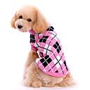 זול בגדים לכלבים-כלב סוודרים בגדים לכלבים משובץ / משבצות ורוד צמרי תחפושות עבור קיץ & אביב חורף בגדי ריקוד גברים בגדי ריקוד נשים Keep Warm